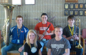 Front (L to R): Maggie Kelehan and Sam Johnson. Back: Brett Wax, Michaela Huey, Collin Krukow. Not pictured: Abby Snyder