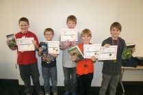 "Second Place: ""Furious Five on Fire"" – (L to R) Seth Derby, Tavis Reisdorf, Wyatt DeMeyer, Bennett Hageman, Joseph Barlow."