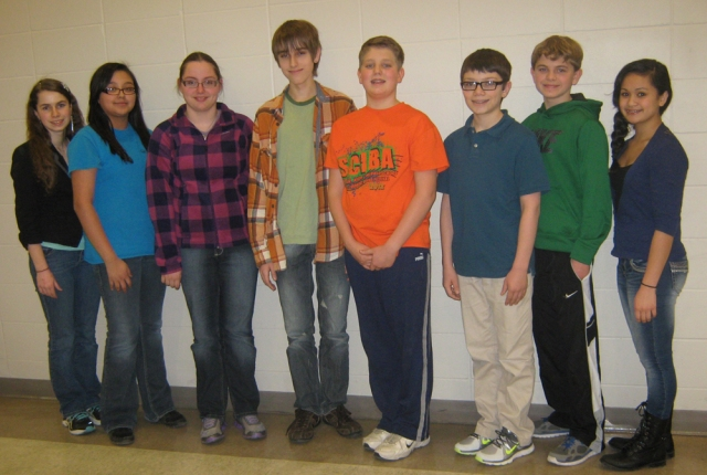 Belin-Blank participants (L to R): Isabella Pedersen, Isabel Paredes, Michelle Ankrum, Jared Rice, Nick Cooper, Frank Iole, Nick Summers, and Mary Drummer.
