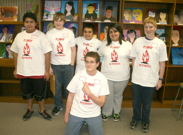Front: Tim Potter. Back (L to R): Jon Ortega, Nick Lanes, James Drummer, Dayanna Carrera, Matthew Dickey.
