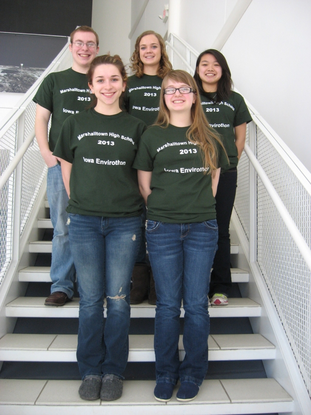 Second Place: Front (L to R): Hannah Lindgren, Rachel Heatwole. Back: Chandler Fisher, Madison Sogge, Wynn Tan,