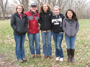 State Participants (L to R): Rachel Heatwole, Chandler Fisher, Madison Sogge, Hannah Lindgren, Wynn Tan.