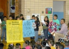 Woodbury students welcome Richard Ortega back after nearly a year of military deployment in Afghanistan.