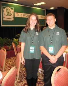 Aleyna Bakirli and Adam Willman at the World Food Prize Global Youth Institute in Des Moines.