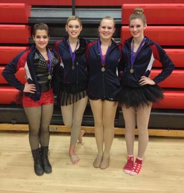 L to R: Katie Gassman, Sydney Grewell, Sydney Kenner, and Kathleen McHenry