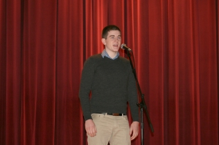 Joe Cahill, Poetry Out Loud runner-up.