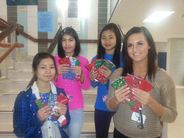Service-learning project participants (L to R) Aye Phow, May Zen, Mu Paw and Avery Smith.