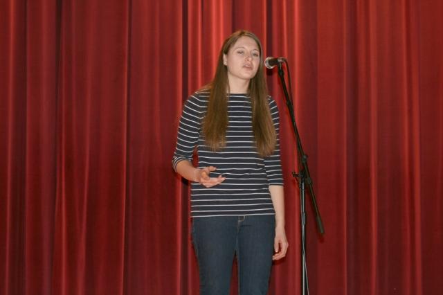 Ellen Podhajsky, MHS Poetry Out Loud winner and state qualifier.