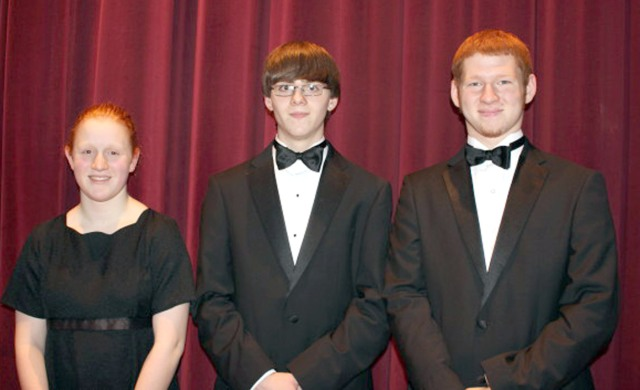 Mikayla Wymore, Collin Krukow and Brett Wax auditioned for and were accepted into the SCIBA Honor Band.