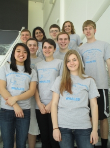 Back: Adam Willman, Dayana Carrera, Collin Krukow, Madison Sogge.  Middle: Sean Finn, Chandler Fisher, Jacob Ramsey-Smith. Front: Wynn Tan, Abby Snyder, Olyvia Mathews.