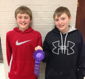 Quinten Woolery and Bennett O'Hare were selected for a Judges' Choice purple ribbon. This award is given at judges' discretion. Quinten and Bennett are invited to present their project at the Iowa Technology and Education Connection in October.