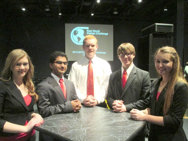 L to R: Olyvia Mathews, Sumeet Panchal, James Talbert, Jonathon Kirner, Ashley Harris. Not pictured: Colin Crumrine.