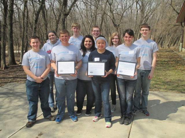 MHS state Envirothon participants: Sean Finn, Madison Sogge, Adam Willman, Jacob Ramsey-Smith, Dayana Carrera, Chandler Fisher, Wynn Tan, Olyvia Mathews, Abby Snyder, Collin Krukow.