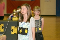 Jillian and Jade face off in the longest final round in Lenihan Spelling Bee History.