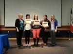 L to R: Teacher Dee Burt, Paola Diaz, Salina Anderson, Anna Rodriguez Saldana, student teacher Jaimie Anderson.