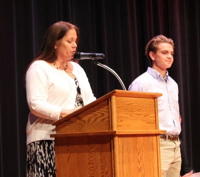 mhs senior nicholas summers for his selection as a commended student in the national merit scholarship program during the academic letter award night at